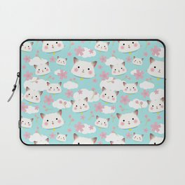 Hanami Kitten in Pastel Blue Laptop Sleeve