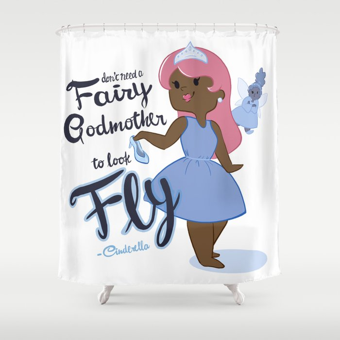 Fly Cinderella Shower Curtain By Janaehall