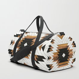 Urban Tribal Pattern 5 - Aztec - Concrete and Wood Duffle Bag