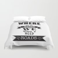 back to the future Duvet Covers featuring back to the future by christopher-james robert warrington
