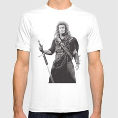 Braveheart Mens Fitted Tee White X-LARGE