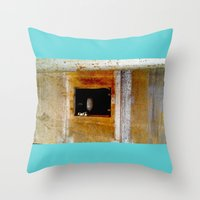 window Throw Pillows featuring WINDOW by  ECOLARTE