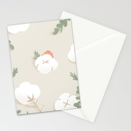 frog with cotton Stationery Cards