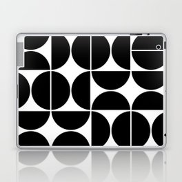 Mid Century Modern Geometric 04 Black Laptop & iPad Skin