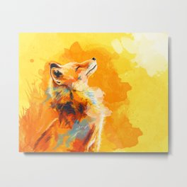 Blissful Light - Fox portrait Metal Print