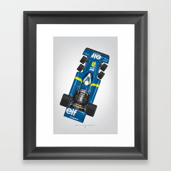 Outline Series N.º3, Jody Scheckter, Tyrrell-Ford 1976 Framed Art Print
