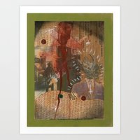 "pigs Art Prints featuring ""Pigs"" by Terrance Regan"