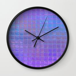 Iridescent Squares Wall Clock