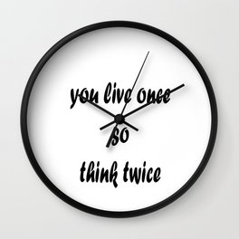 Lesson of life Wall Clock