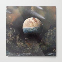 Space Shower Metal Print