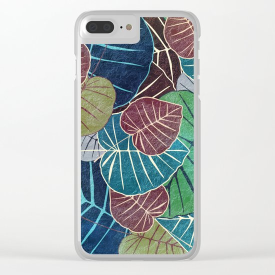 Leaf Pattern 2 Clear iPhone Case