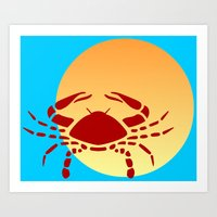 cancer Art Prints featuring Cancer by Geni