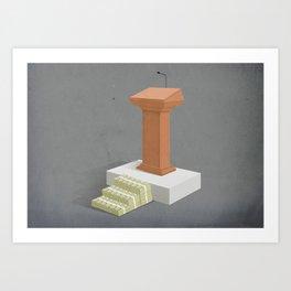 Politics and Corruption Art Print