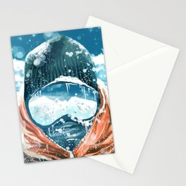 climber in the everest Stationery Cards