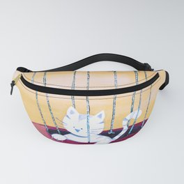 The cat traveling in dreams Fanny Pack