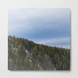 Ketchikan Mountain Forest Metal Print