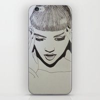 grimes iPhone & iPod Skins featuring Grimes by NikkiMaths