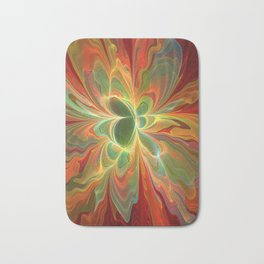 With a lot of Red, Abstract Art Bath Mat