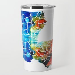 Louisiana Map - State Maps By Sharon Cummings Travel Mug
