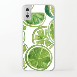 Watercolor LIMES Clear iPhone Case