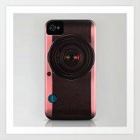Vintage Camera III - Rosé Gold Art Print