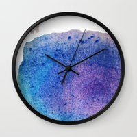 splatter Wall Clocks featuring Splatter by Courtney Burns