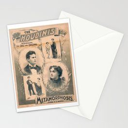 Houdini, Metamorphosis, vintage poster Stationery Cards