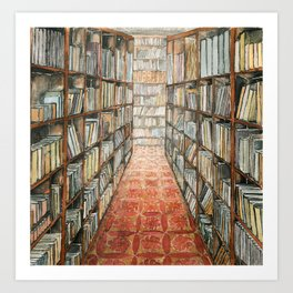 old library Art Print