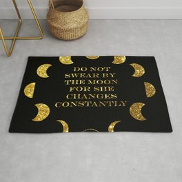 Moon Phases Gold Rug