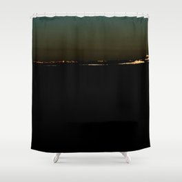 The river after sunset Shower Curtain