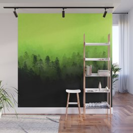 Colour in The Mist - Lime Wall Mural