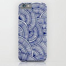 Swirls Blue Slim Case iPhone 6s