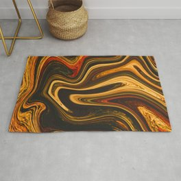 Marble Marbled Abstract Paint CI Rug
