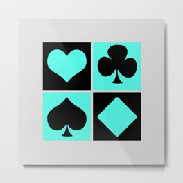 Cards series - Black and blue Metal Print