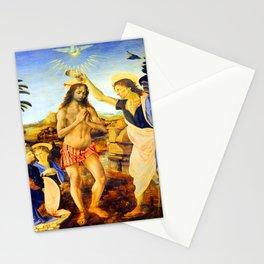 Leonardo da Vinci Baptism of Christ Stationery Cards