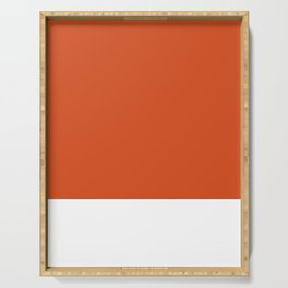 Solid Retro Orange Serving Tray