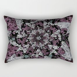 Dot Fourier Fractal Mandala Rectangular Pillow