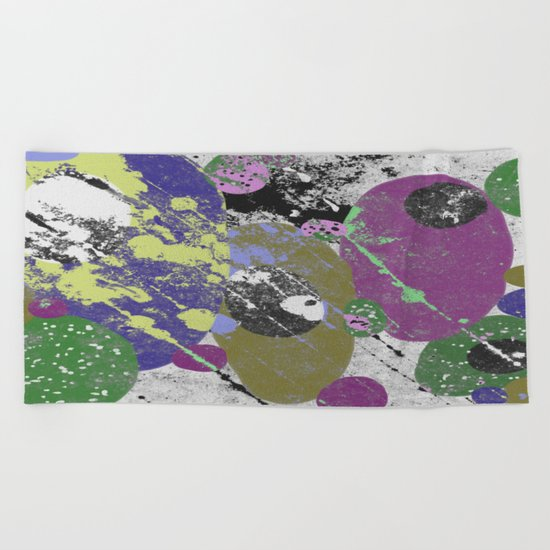 Gather Together - Abstract, pastel coloured, textured, artwork Beach Towel