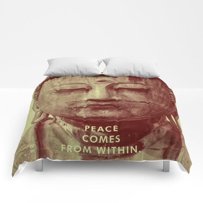 Buddha Duotone 3 Comforters