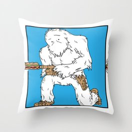 Squatch Gets Lunch Throw Pillow