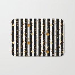 Stripes & Gold Splatter Bath Mat