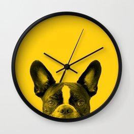 James: Bat Ears Yellow Wall Clock