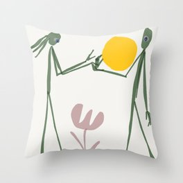 there is a sun within everyone Throw Pillow