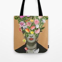 Frida Floral (Orange) Tote Bag