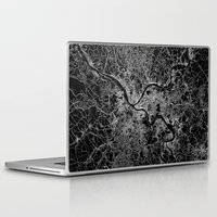 pittsburgh Laptop & iPad Skins featuring pittsburgh map by Line Line Lines