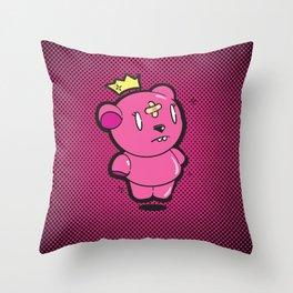 Pink Dead Bear Throw Pillow