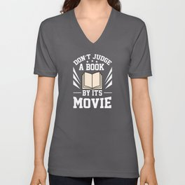 Dont Judge A Book By Its Movie Unisex V-Neck