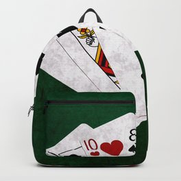 Poker Hand High Card Ace Queen Ten Eight Five Backpack