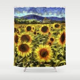 Sunflowers Vincent Van Gogh Shower Curtain