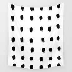 Jacques Pattern - Pure White Wall Tapestry